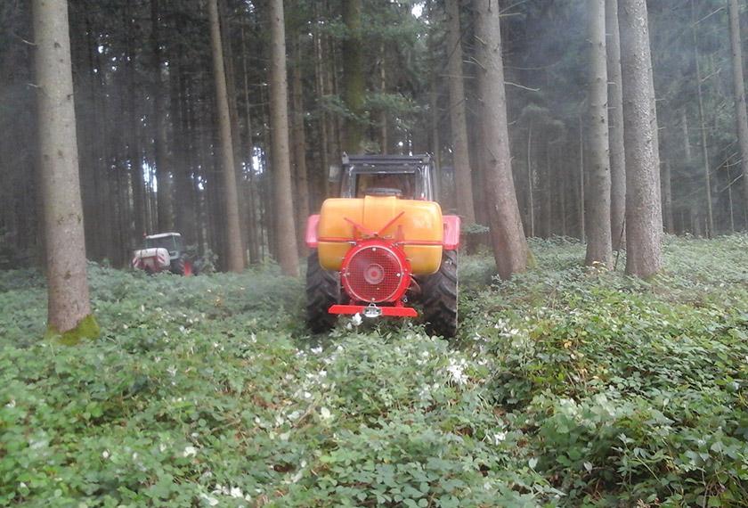 EM-Vernebelung im Wald